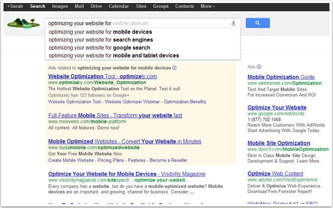 optimizing your website for searchers autosuggest