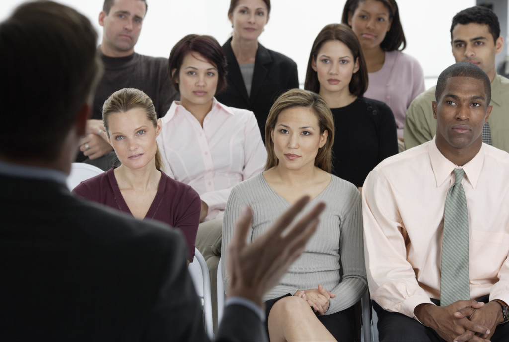 Many people tend to overlook how the body language of audience members impact the presentation. FLICKR IMAGE @Corbis