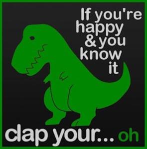 Dreaded t-rex arm gestures.