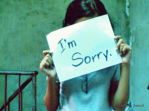 photo symbolizing to not apologize for silly things