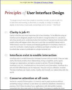 principles of user interface design screenshot